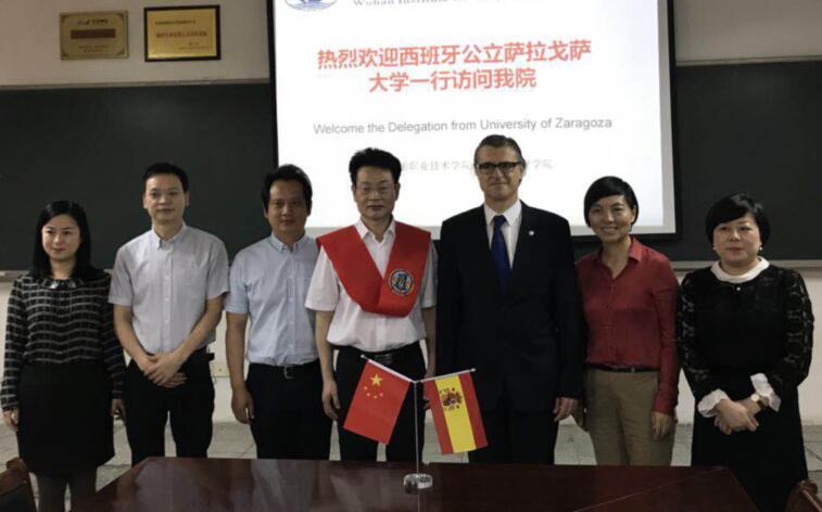 西班牙公立萨拉戈萨大学教授一行来武汉船舶职业技术学院交流